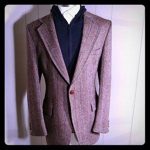 Harris Tweed Chocolate & Cream Herringbone 🏆 HP